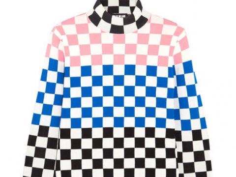 Checked stretch-knit sweater HK$522 (HOUSE OF HOLLAND)