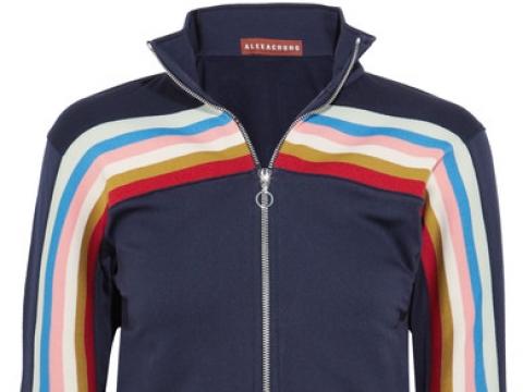 Striped jersey track jacket HK$2,075 (ALEXACHUNG)