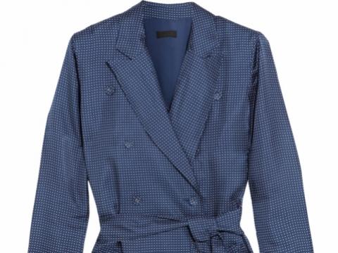 Gilbert polka-dot silk-satin dress HK$1,430 (J.CREW)
