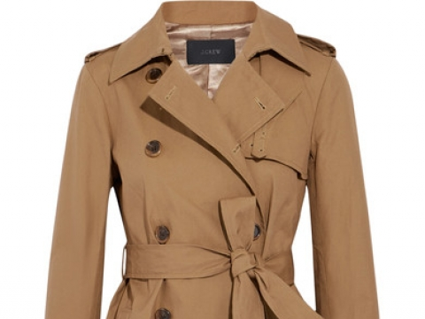 Cotton-canvas trench coat HK$3,025 (J.CREW)
