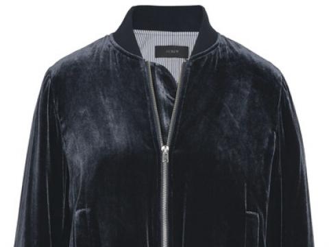 Cropped velvet bomber jacket HK$1,615 (J.CREW)