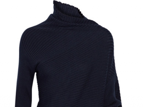Asymmetric ribbed merino wool turtleneck sweater HK$2,490 (MARQUES' ALMEIDA)