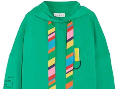 Oversized printed cotton-jersey hooded top HK$3,590 (MIRA MIKATI)