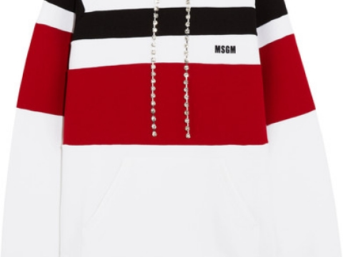 Crystal-embellished striped jersey hooded top HK$3,070 (MSGM)