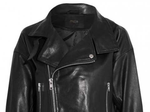 Cropped leather biker jacket HK$3,028 (MAJE)