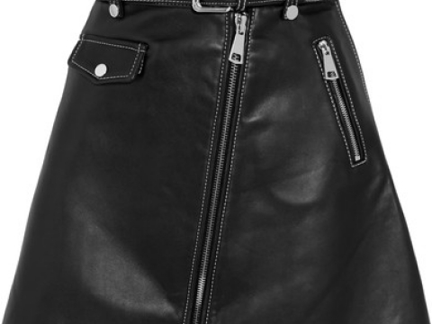 Leather mini skirt HK$2,840 (MAJE)