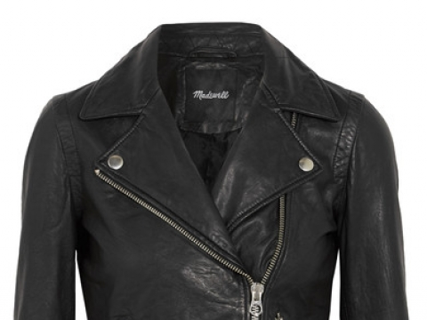 Washed-leather biker jacket HK$4,610 (MADEWELL)