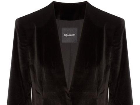 Cotton-blend velvet blazer HK$1,490 (MADEWELL)