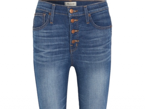 Distressed high-rise skinny jeans HK$1,270 (MADEWELL)