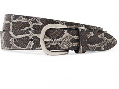 Zap snake-effect leather belt HK$950 (ISABEL MARANT)