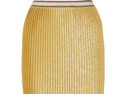 Susianna plissé glittered stretch-knit midi skirt HK$1,706 (BY MALENE BIRGER)