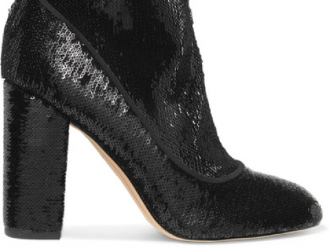 Calexa sequined stretch-twill sock bootsHK$1,007 (SAM EDELMAN)
