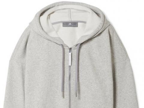 Essentials organic cotton-blend fleece hooded top HK$788 (ADIDAS BY STELLA MCCARTNEY)