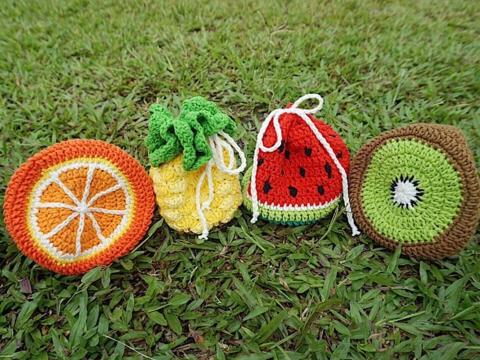 A Little Bean手織水果袋