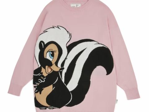 粉紅色臭鼬針織上衣 HK$459
