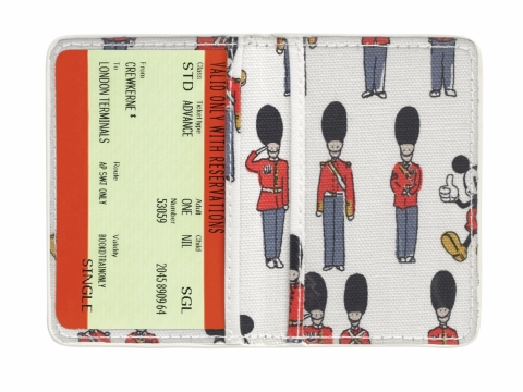 Mickey and Guards Ivory TICKET HOLDER TWO FOLD HK$110