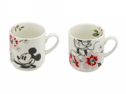Mickey & Minnie Bouquet Ivory Mug Set HK$230