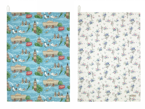 Peter Pan in London Turquoise Tea Towel HK$250