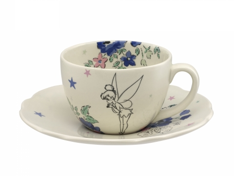 Sketched Tinker Bell Off White Cup & Saucer HK$290