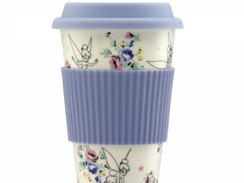 Tinker Bell Posy Off White Travel Cup HK$270