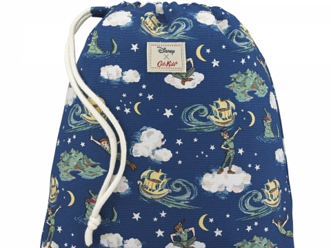 Peter Pan Mini Clouds Soft Navy Drawstring Wash Bag HK$160