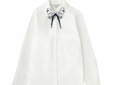 Embroidery Ivory Shirt HK$690