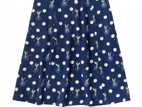 Tinker Bell Button Spot Navy Skirt HK$790