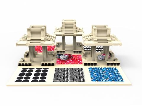 涼亭將有Marimekko可愛print嘅地毯同豆豆梳化