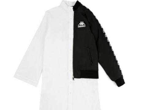 CHARM'S X KAPPA 黑白撞色長身外套 HK$2,199