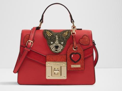 紅色小狗刺繡手袋 HK$699