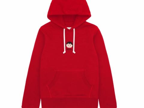 小丸子紅色印花圖案衛衣 HK$399