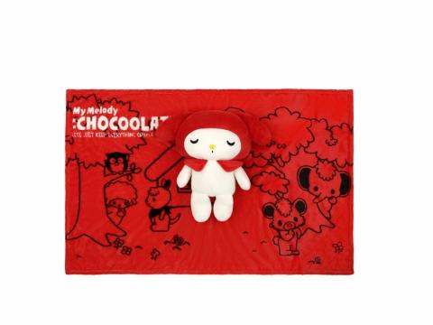 凡購買兩件或以上指定單品滿淨價HK$1200 (包括一件:CHOCOOLATE x My Melody產品),可免費獲贈卡通造型折叠攬枕被。