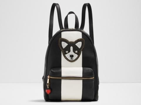 黑白小狗刺繡背包HK$699
