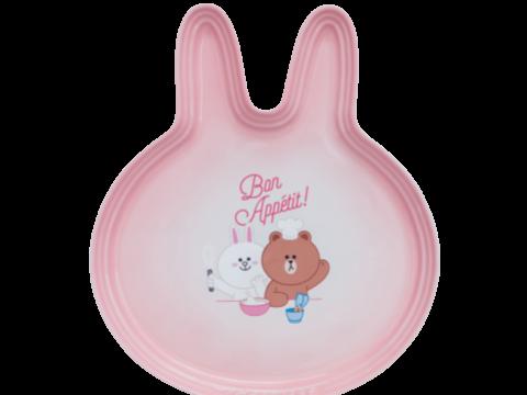 LINE FRIENDS CONY頭形平碟 (Powder Pink)。限定價HK$368
