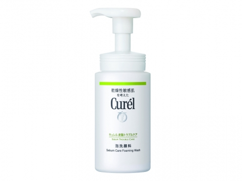 Curel Sebum Care Foaming Wash深層控油保濕泡沫潔面乳  HK$150/150ml