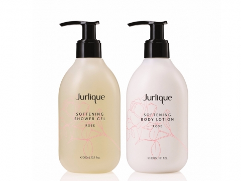 Jurlique 玫瑰緻柔身體乳 HK$350/300ml、沐浴露 HK$230/300ml