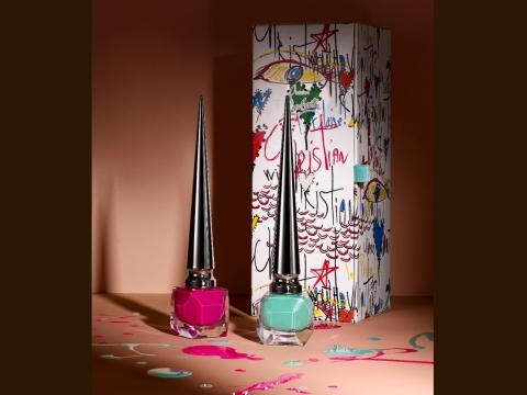 Loubitag Collection I︰Pluminette桃紅色、Batignolles湖水藍綠色。HK$525/套