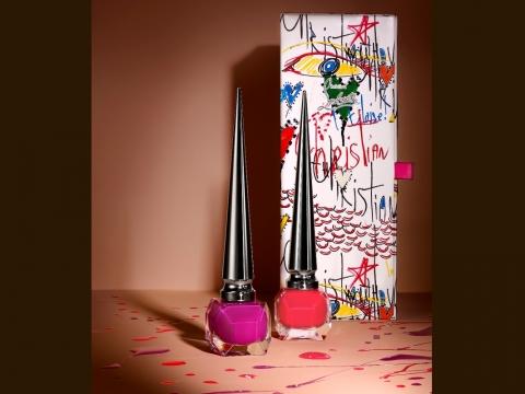 Loubitag Collection II︰Miss Loubi珊瑚色、Bolidonna莓紫色。HK$525/套