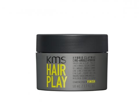 KMS HAIRPLAY Hybrid Claywax 玩髮定型髮蠟泥質感啞緻乾爽,能塑造強力定型豐厚感。HK$230/50ml