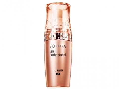Sofina Lift Professional Essence EX含有胜肽複合物,恢復真皮層的自生彈力,撫平因乾燥而浮現的皺紋,令肌膚水潤飽滿。HK$490/40g