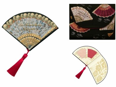 摺扇胭脂蜜粉組合MAKEUP COFFRET IV包括宮廷浮雕胭脂、柔滑透亮粉餅及化妝包。HK$480