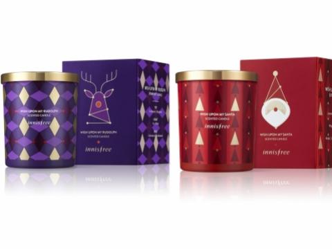 我的聖誕香薰蠟燭以天然大豆蠟代替石蠟,紫色小鹿為柑橘香草味,紅色聖誕老人為優雅花香味。各HK$138