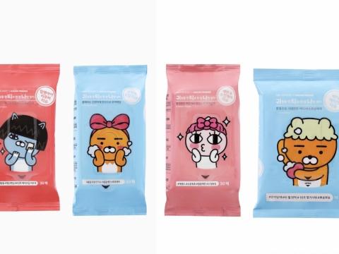 卸妝濕紙巾、潔面濕紙巾及身體專用濕巾。建議零售價HK$48-69/包