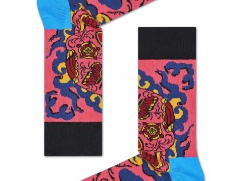 粉紅色頭骨圖案襪子HK$110