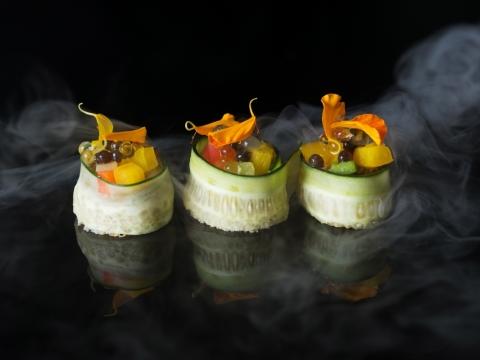 Mini Sandwich, smoked eggplant