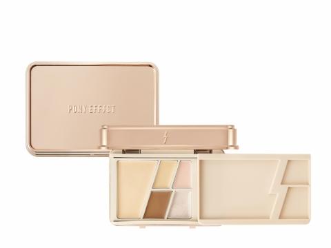 PONY EFFECT Butter Balm Foundation Palette無瑕光潤粉底盒以牛油盒子為設計概念,其兼具粉底、遮瑕、打亮、光潤、修容等多重功能,設計輕便小巧,共2組色調,HK$300。
