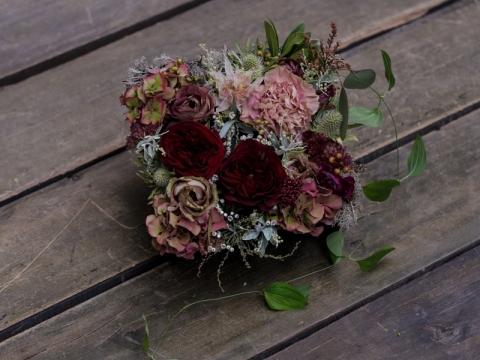 紅色庭園玫瑰禮盒  HK$1,000
