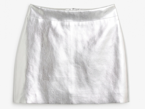 Silver colour river skirt HK$200 (Monki)