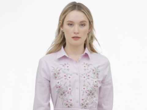淺粉紅色小花圖案連身裙 HK$1,390