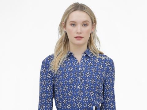 藍色碎花圖案連身裙 HK$1,990